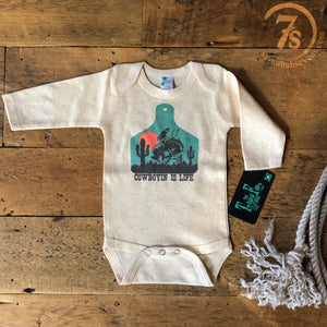 The Cowboyin' Is Life Onesie