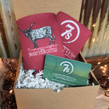Brand Your Cattle Koozie {cranberry}