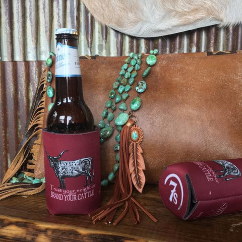 Savannah 7s Koozie {cranberry}