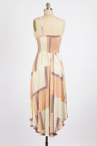 Alyss Peach Maxi Dress