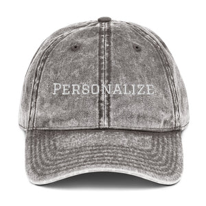 Vintage Cotton Twill Cap (Personalize)