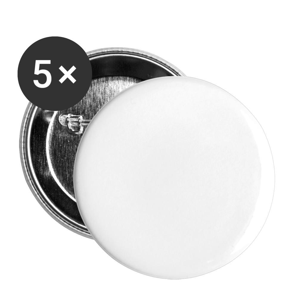Buttons small 1'' (5-pack) - white
