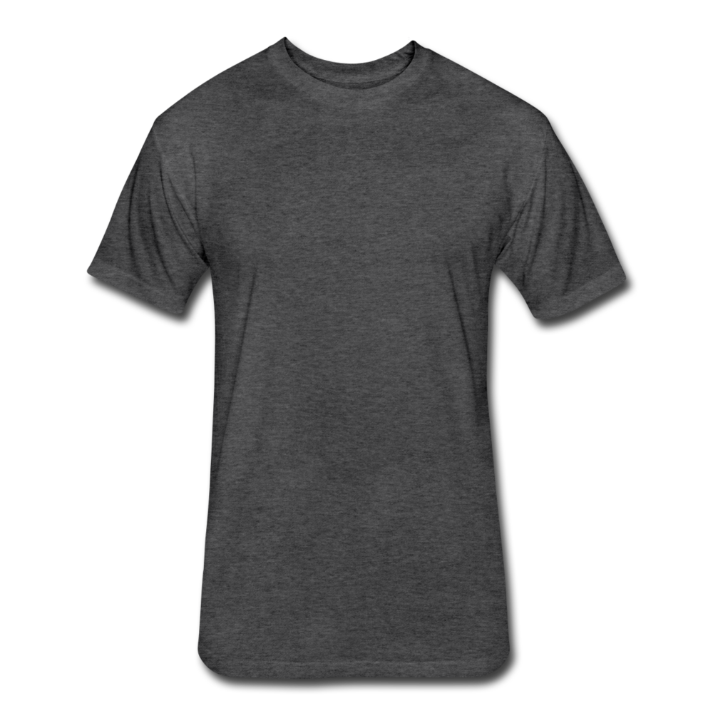 Fitted Cotton/Poly T-Shirt by Next Level - heather black