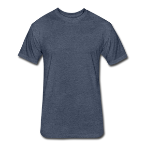 Fitted Cotton/Poly T-Shirt by Next Level - heather navy