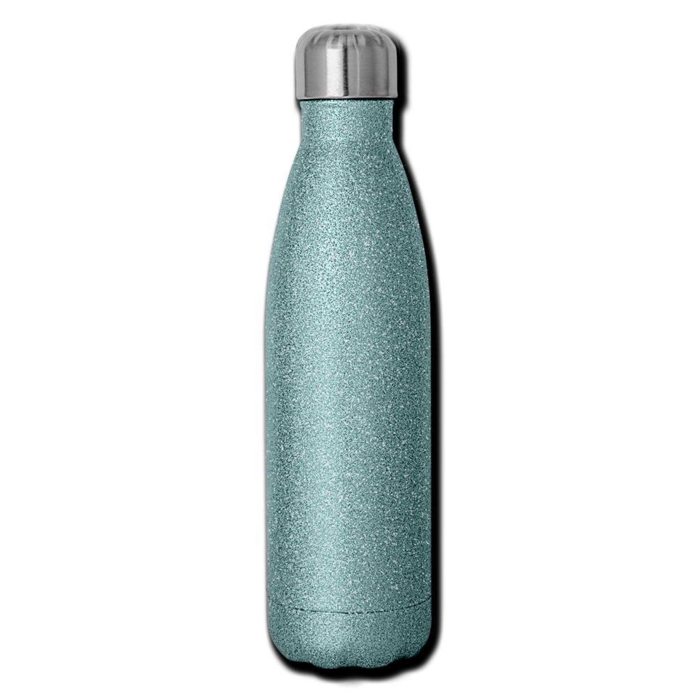 Insulated Stainless Steel Water Bottle - glitter turquoise