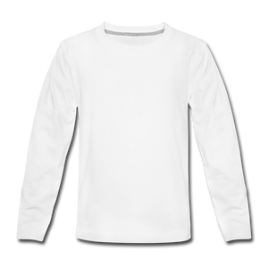 Kids' Premium Long Sleeve T-Shirt - white