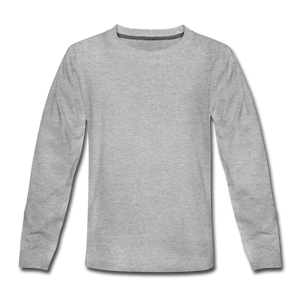 Kids' Premium Long Sleeve T-Shirt - heather gray