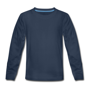 Kids' Premium Long Sleeve T-Shirt - navy