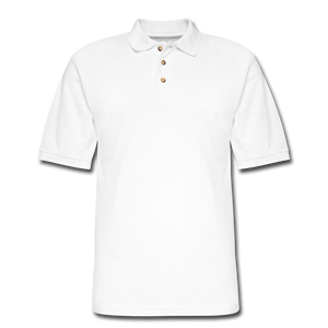 Men's Pique Polo Shirt - white