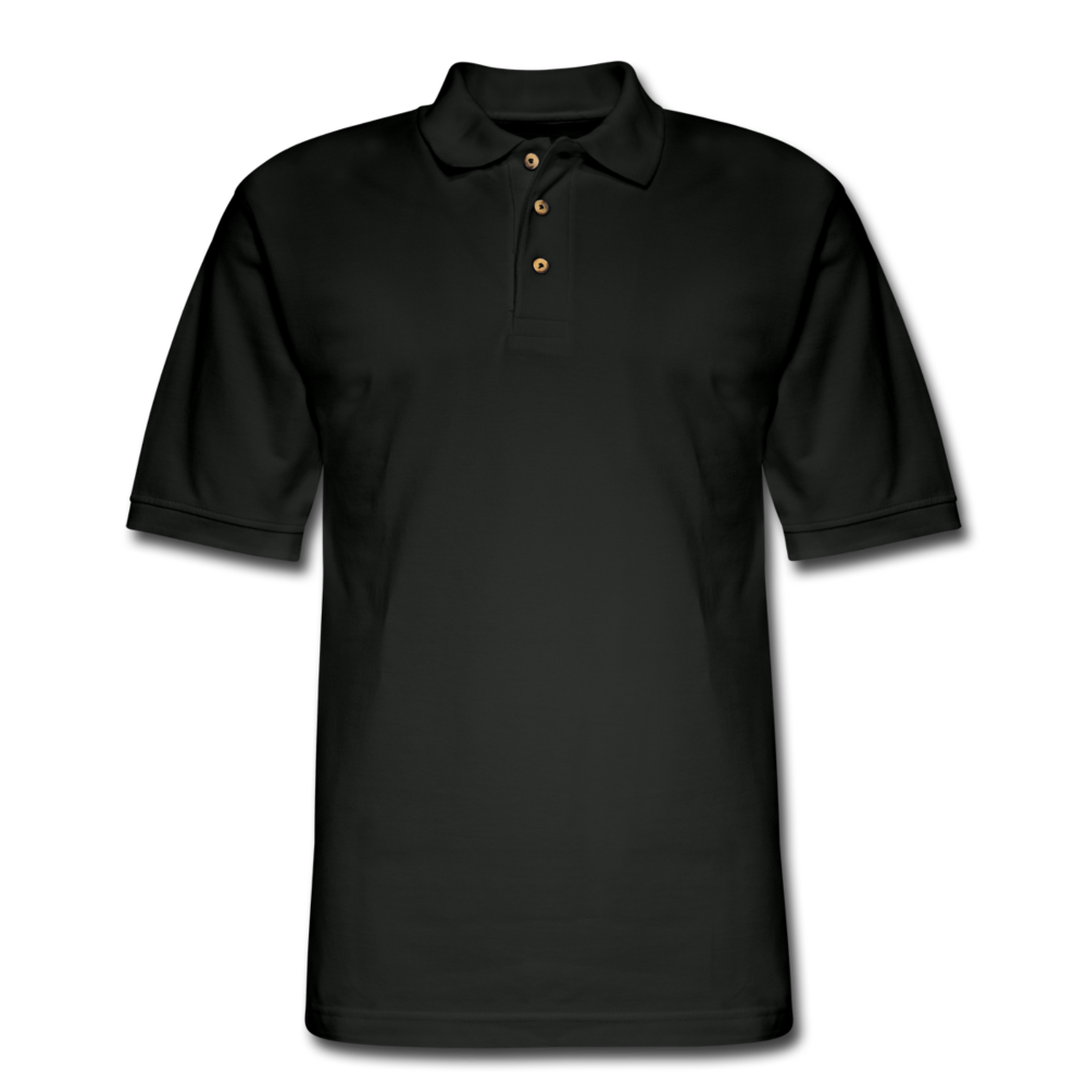 Men's Pique Polo Shirt - black