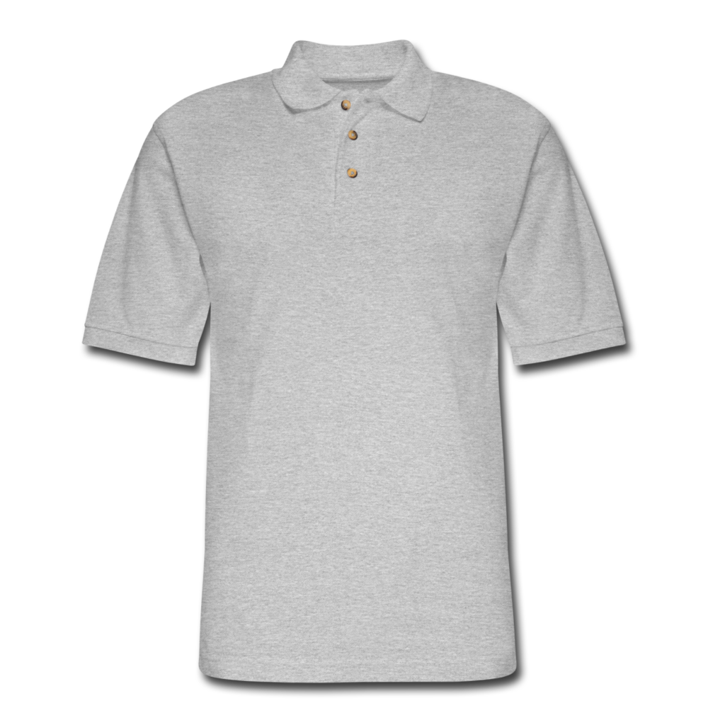 Men's Pique Polo Shirt - heather gray