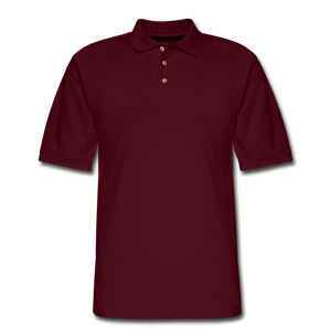 Men's Pique Polo Shirt - burgundy