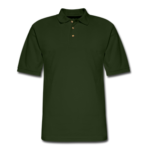 Men's Pique Polo Shirt - forest green