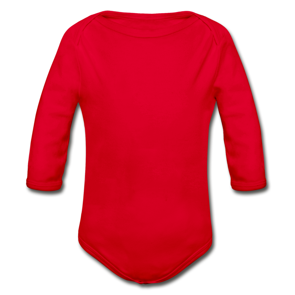 Organic Long Sleeve Baby Bodysuit - red