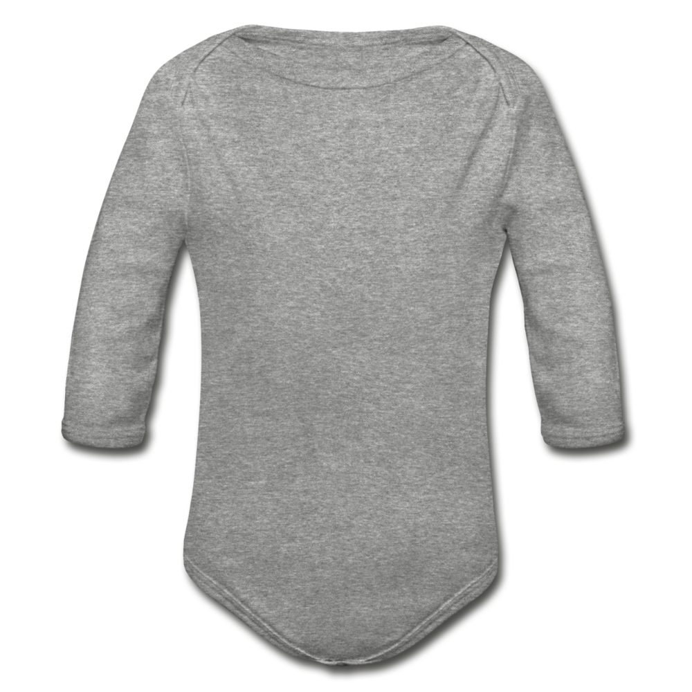 Organic Long Sleeve Baby Bodysuit - heather gray