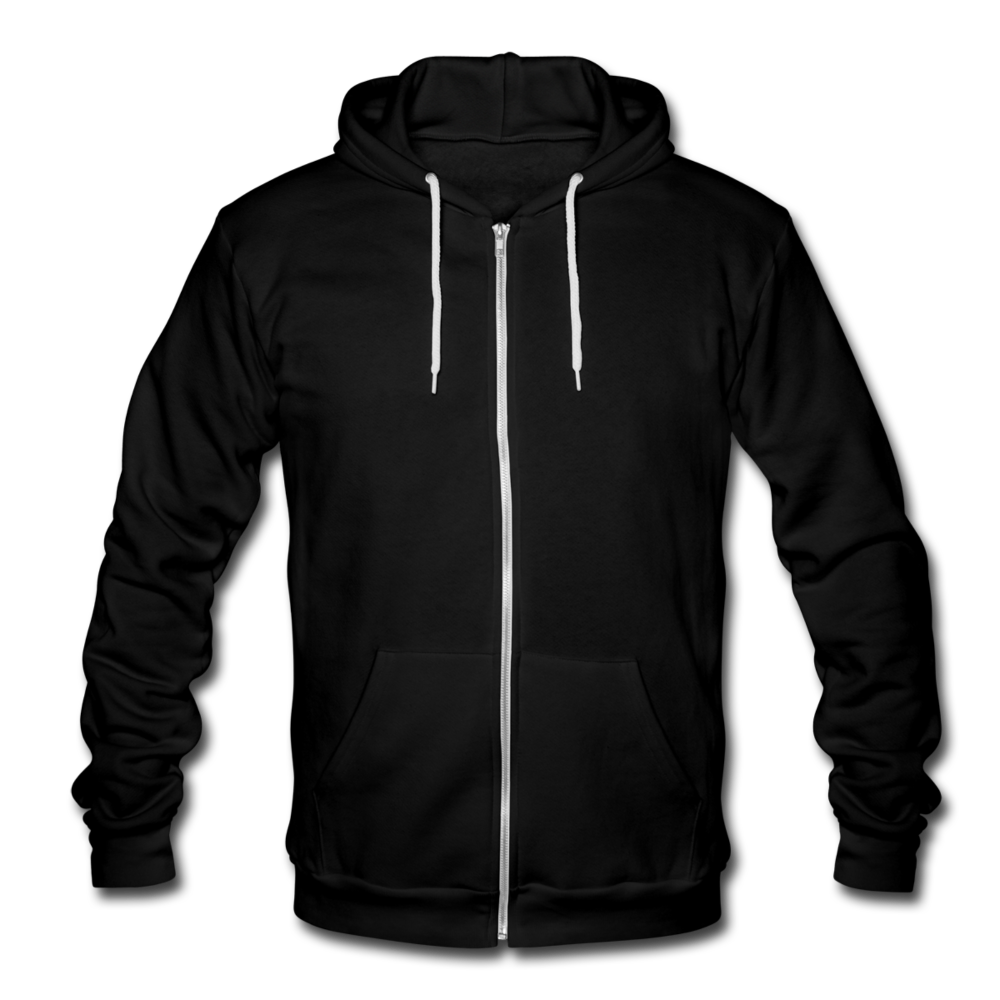 Unisex Fleece Zip Hoodie - black