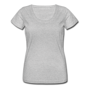 Women's Scoop Neck T-Shirt - heather gray
