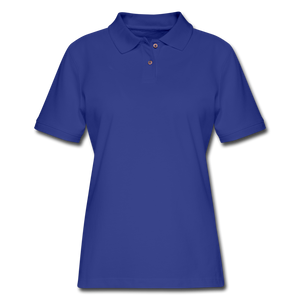Women's Pique Polo Shirt - royal blue
