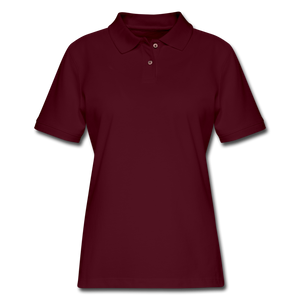 Women's Pique Polo Shirt - burgundy