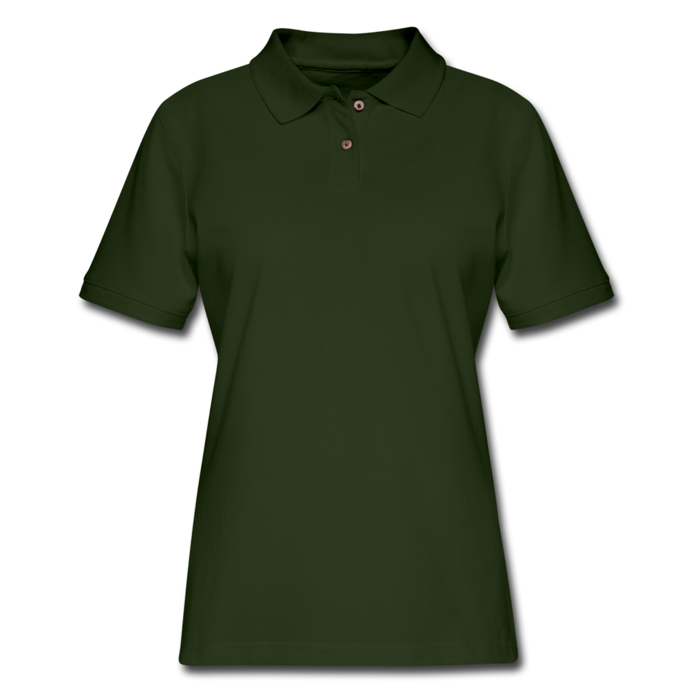 Women's Pique Polo Shirt - forest green