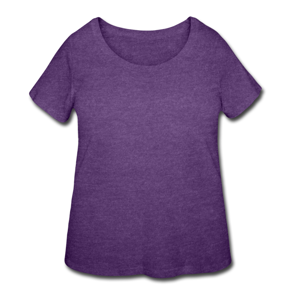 Women's Curvy T-Shirt - heather purple