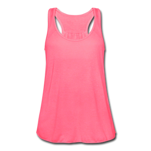Women's Flowy Tank Top by Bella - neon pink