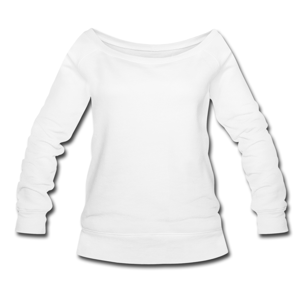Women's Wideneck Sweatshirt - white