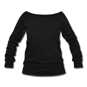 Women's Wideneck Sweatshirt - black