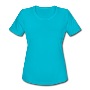 Women's Moisture Wicking Performance T-Shirt - turquoise