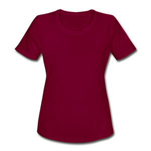Women's Moisture Wicking Performance T-Shirt - burgundy