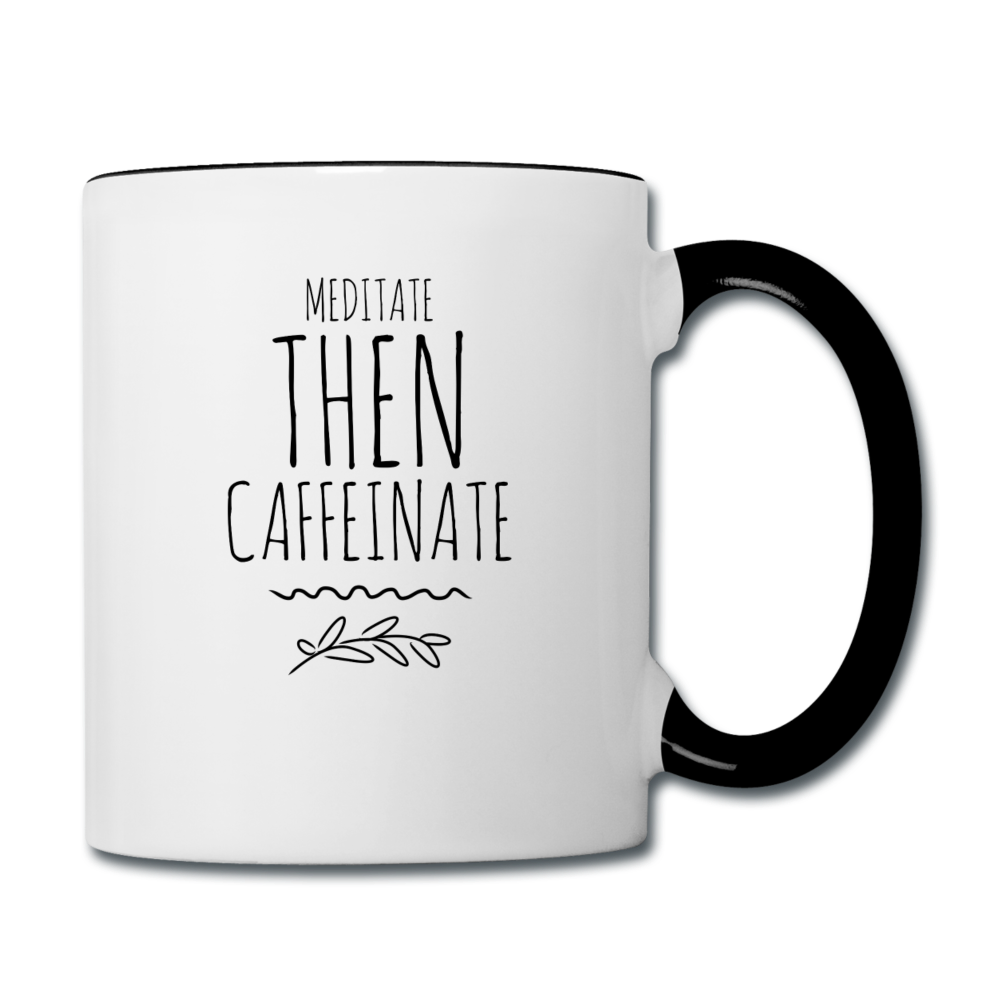 Contrast Coffee Mug - white/black