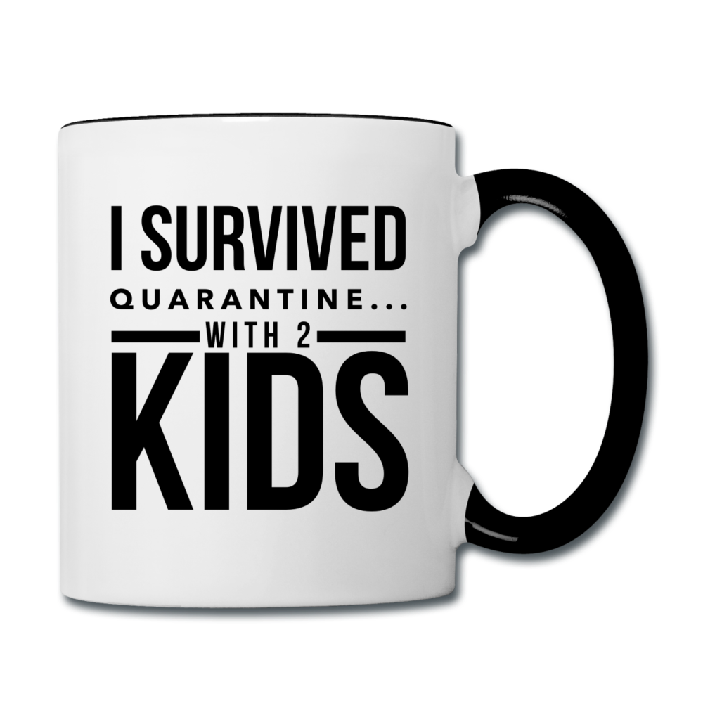 I Survived Quarantine Contrast Coffee Mug - white/black