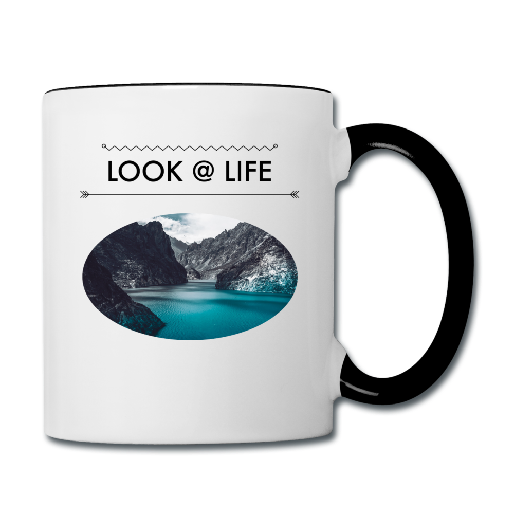 Look @ Life Contrast Coffee Mug - white/black