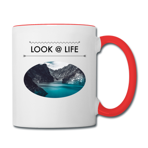 Look @ Life Contrast Coffee Mug - white/red