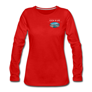 Women's Premium Long Sleeve T-Shirt - red