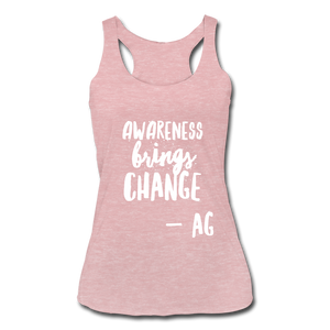Awarness Brings Change Women's Tri-Blend Racerback Tank - heather dusty rose