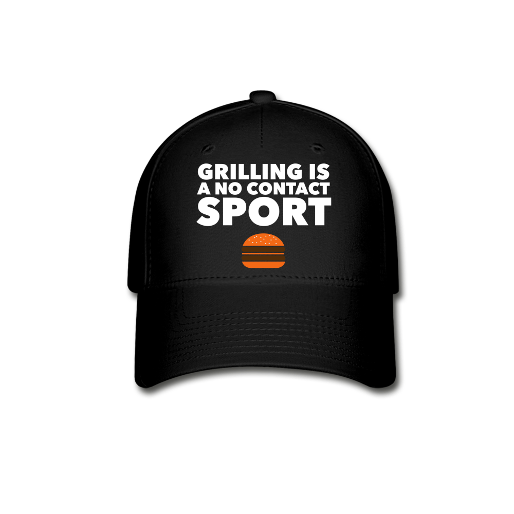 Grilling Is A No Contact Sport Baseball Cap - black