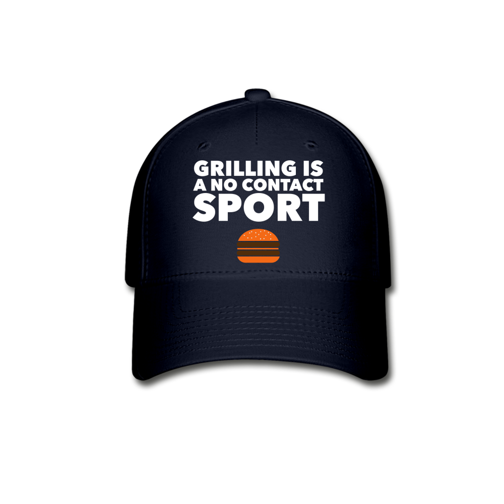 Grilling Is A No Contact Sport Baseball Cap - navy