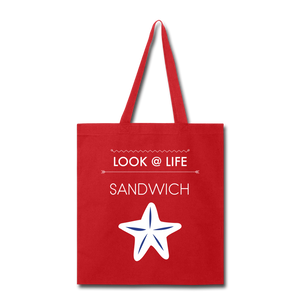 Sandwich Tote Bag - red
