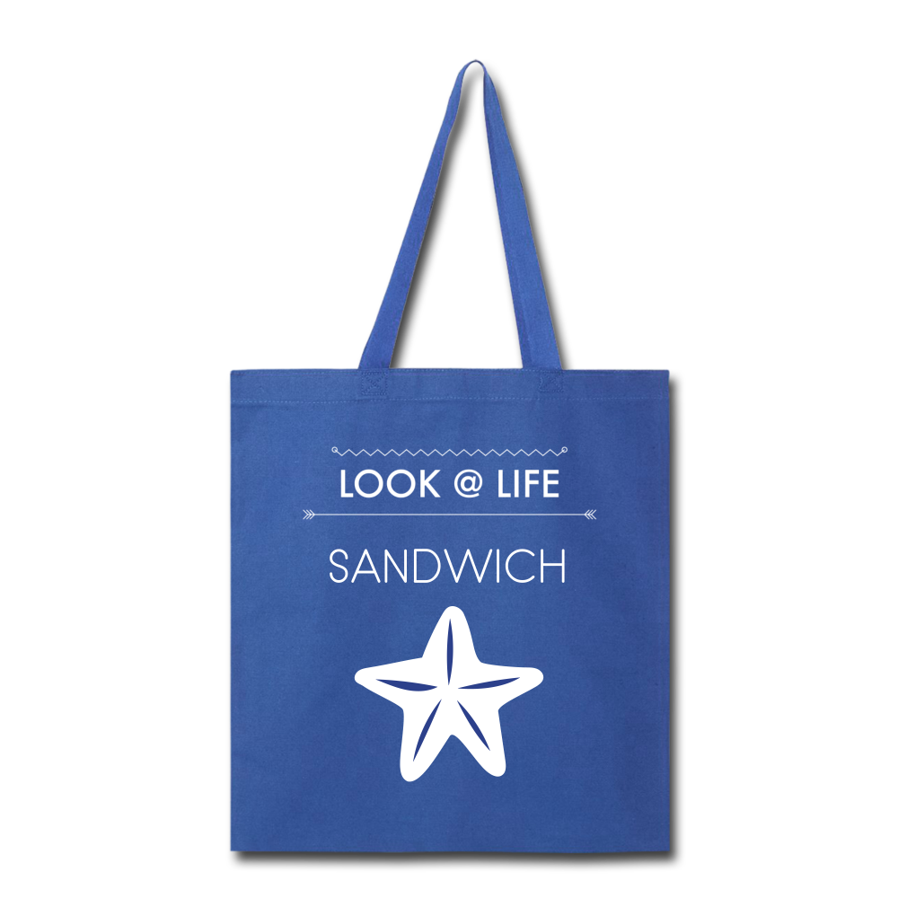 Sandwich Tote Bag - royal blue