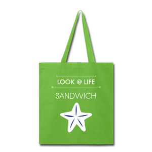 Sandwich Tote Bag - lime green