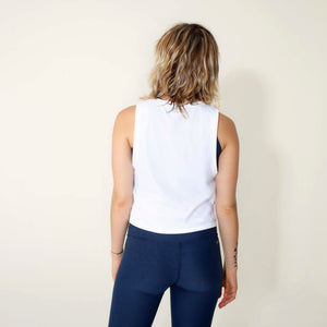 White Crop Tank by _AS YOU ARE