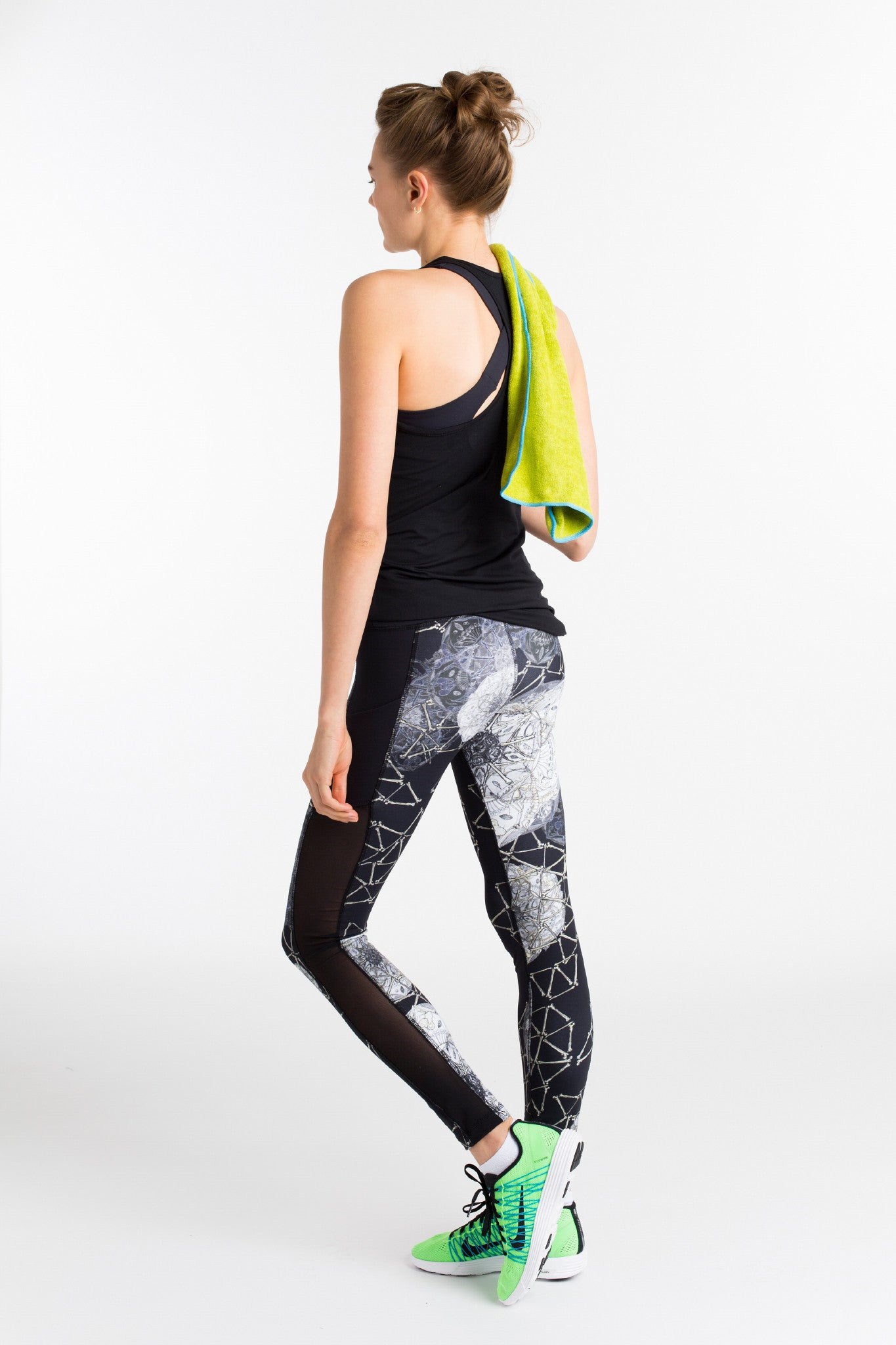 Workout Leggings with Mesh and Side Pockets