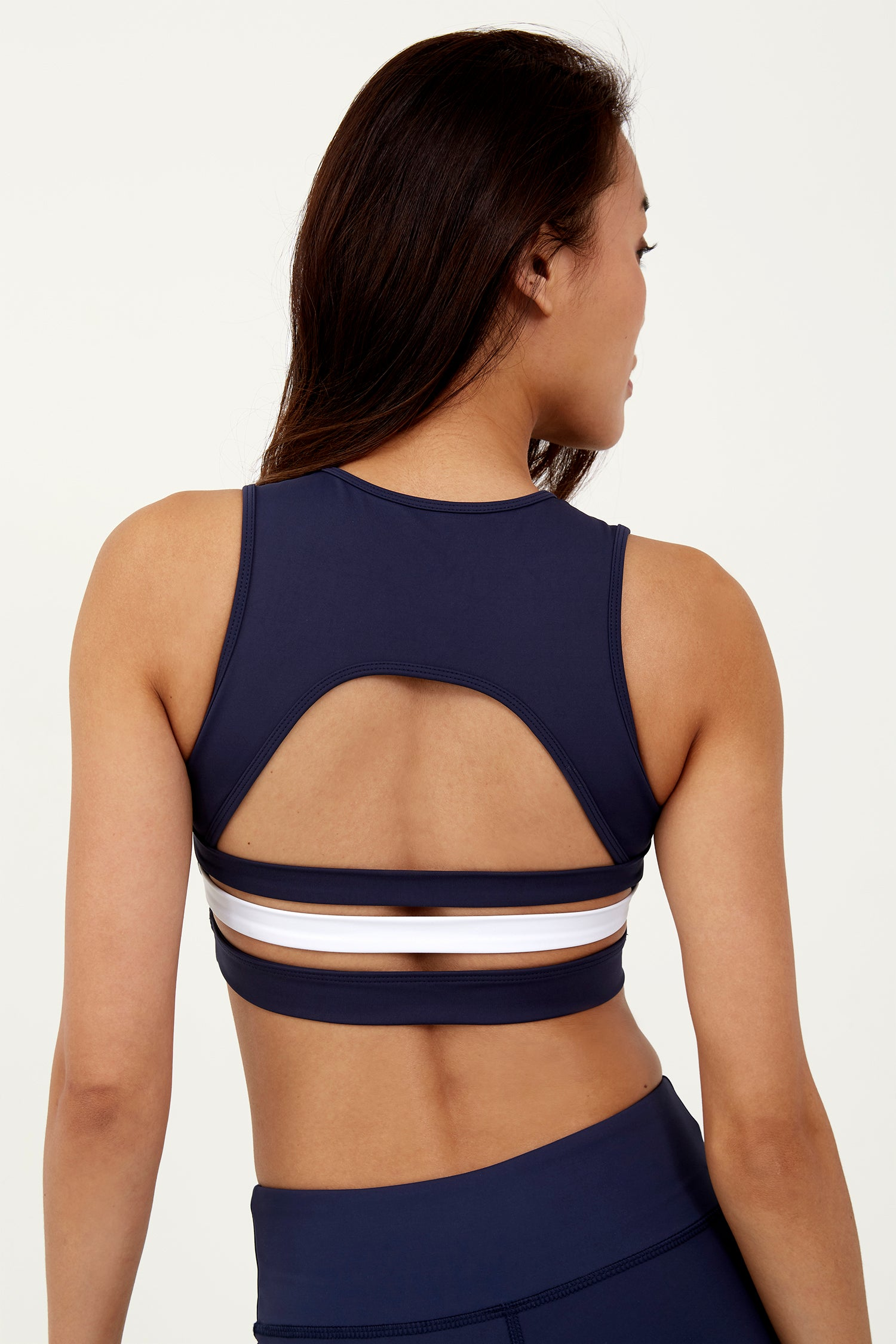 Open Back Bra Navy