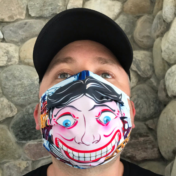 Coney Island Tillie Face Mask Covers
