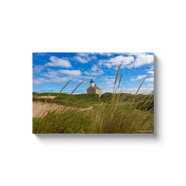 """North Lighthouse in The Dunes, Block Island"" Canvas Wraps"