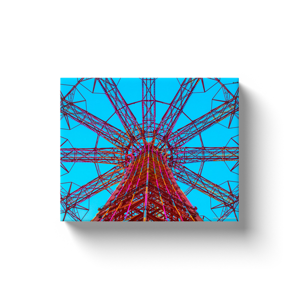 """Coney Island Parachute Jump"" Canvas Wraps"