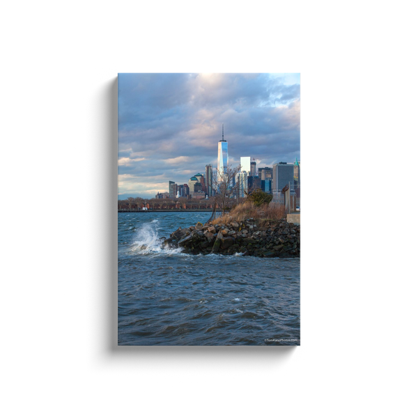 """Stormy Freedom Tower"" Canvas Wraps"