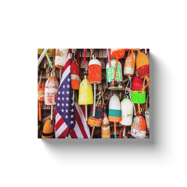 """American Maine Buoys"" Canvas Wraps"