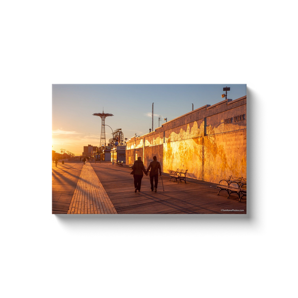 """Coney Island Couple""Canvas Wraps"